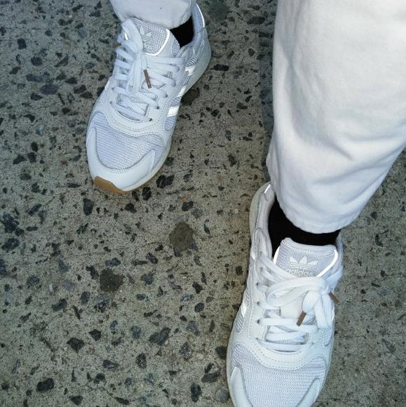 Adidas Tresc Run J White Sneakers Boys